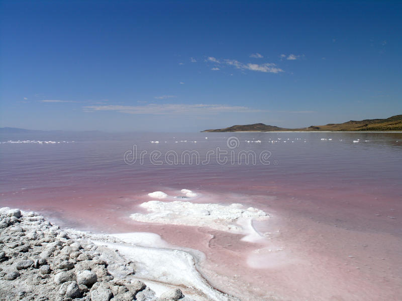 Zoute kust van Great Salt Lake stock fotografie