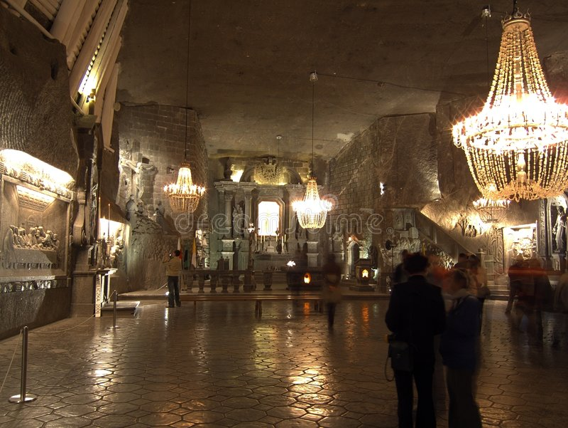 Zoute mijn Wieliczka royalty-vrije stock fotografie