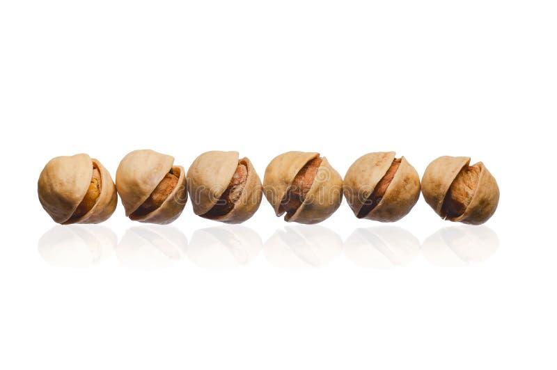 Zoute pistaches stock foto