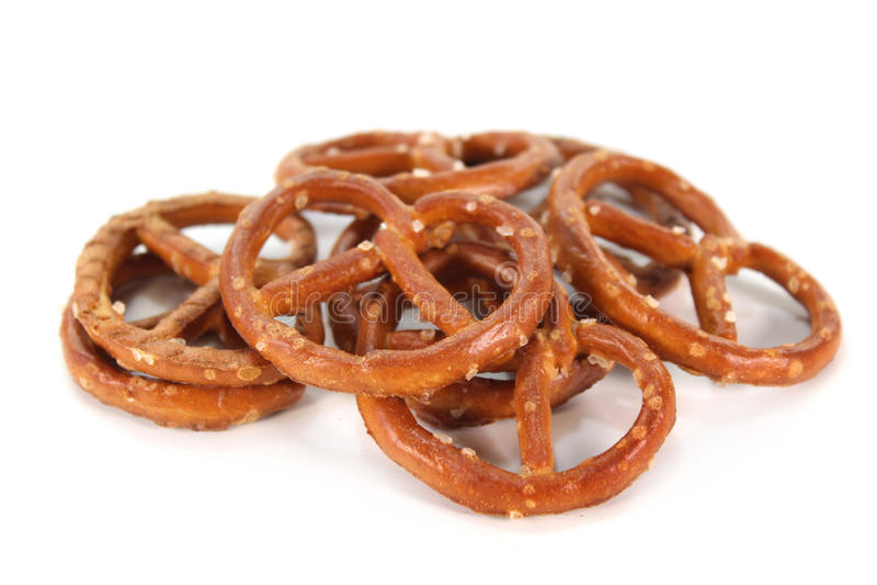 Zoute pretzels stock fotografie