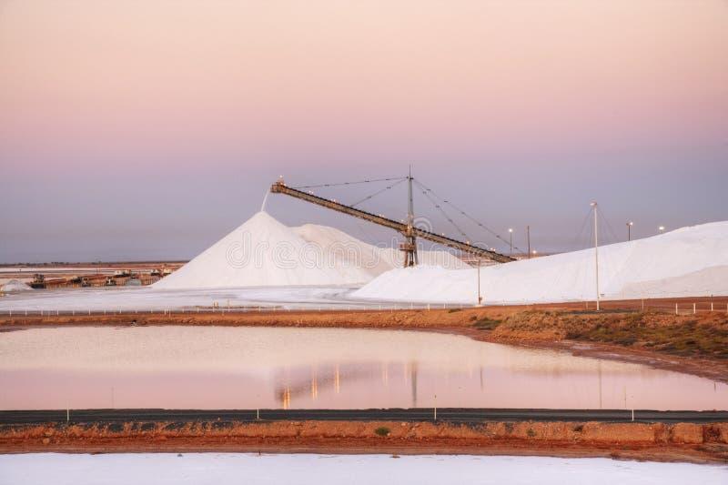 Zoute Voorraadhaven Hedland Australië royalty-vrije stock afbeelding