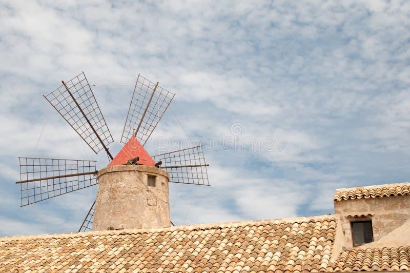 Zoute windmolen stock afbeeldingen