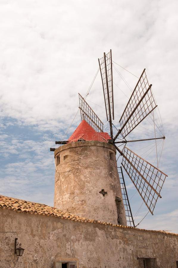 Zoute windmolen stock afbeelding