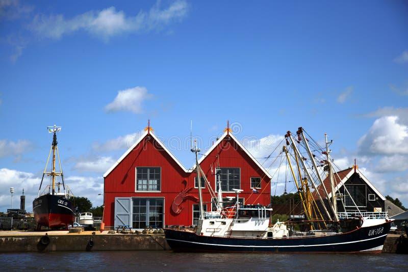 Zoutkamp harbor royalty free stock photography