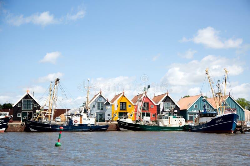 Zoutkamp harbor royalty free stock image