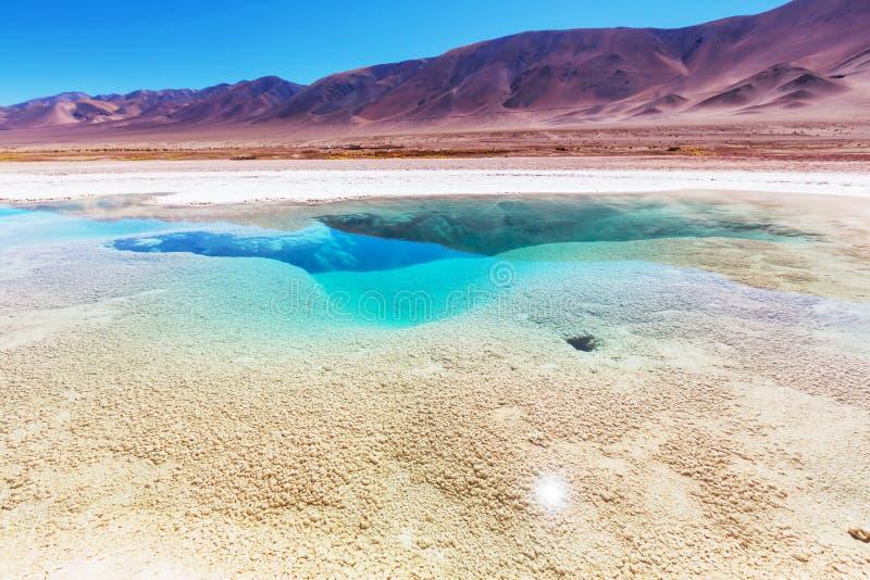 Zoutmeren in Argentinië royalty-vrije stock afbeeldingen
