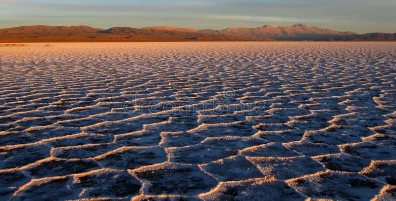 Zoutmeren Grandes, Argentinië stock afbeeldingen