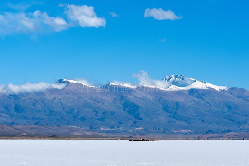 Zoutmeren Grandes, de Andes, Argentinië stock fotografie
