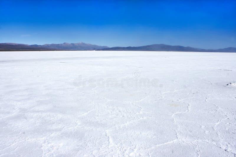 Zoutmeren Grandes, in Jujuy, Argentinië stock foto
