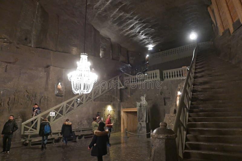 Zoutmijnkathedraal in Polen royalty-vrije stock foto