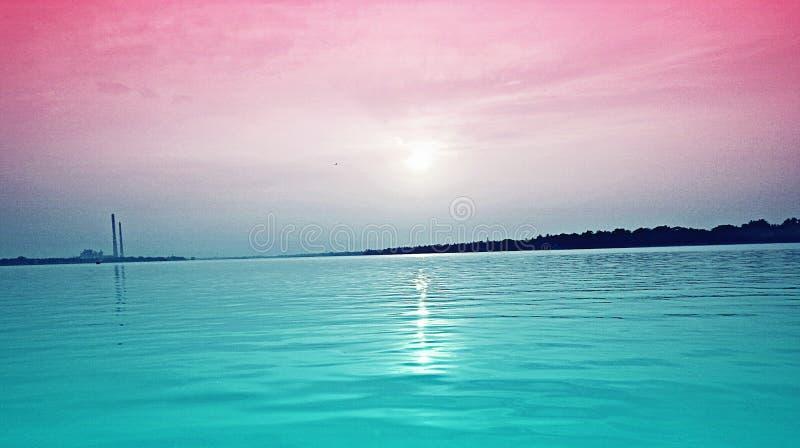 Zoutwatermaanlicht royalty-vrije stock afbeelding