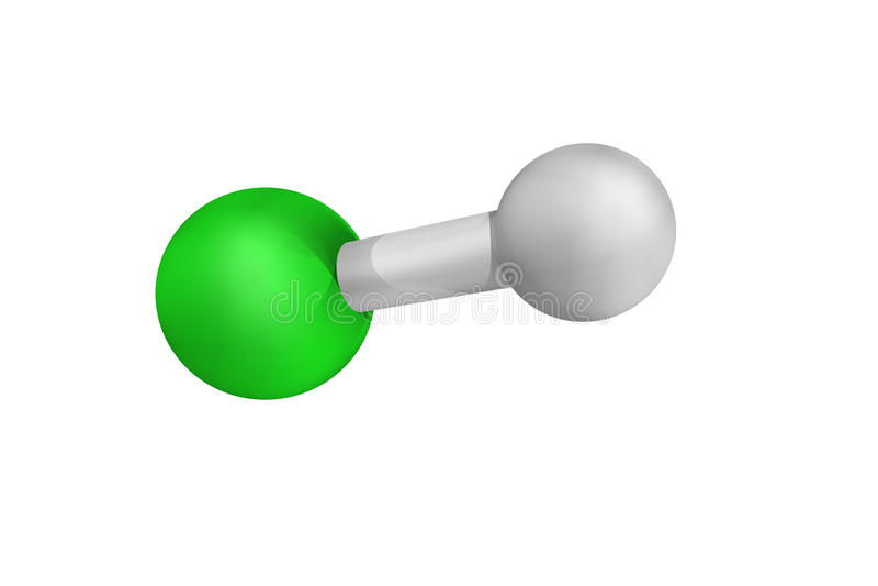 Zoutzuur, in de chemische industrie als chemisch r wordt gebruikt dat royalty-vrije stock foto