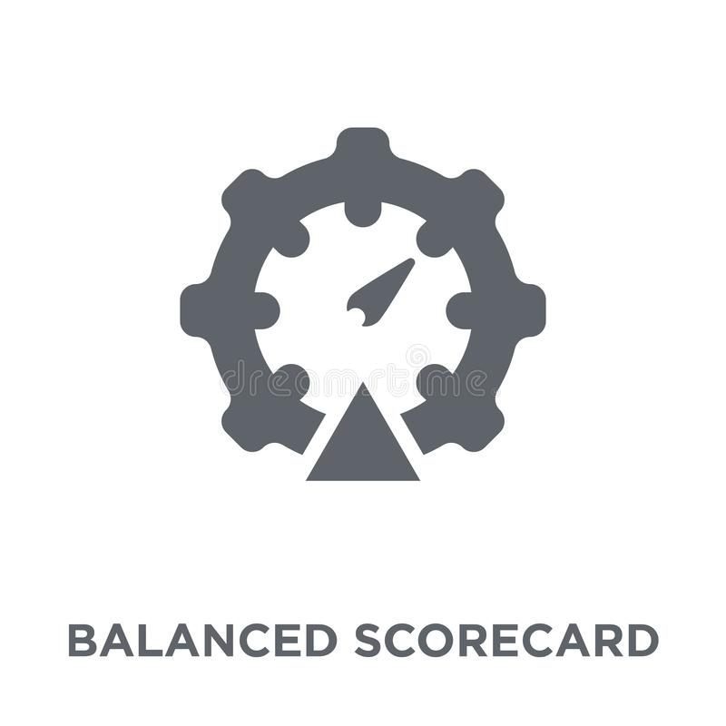 Zrównoważona karta wyników ikona od czasu zagospodarowania kolekcji ilustracji