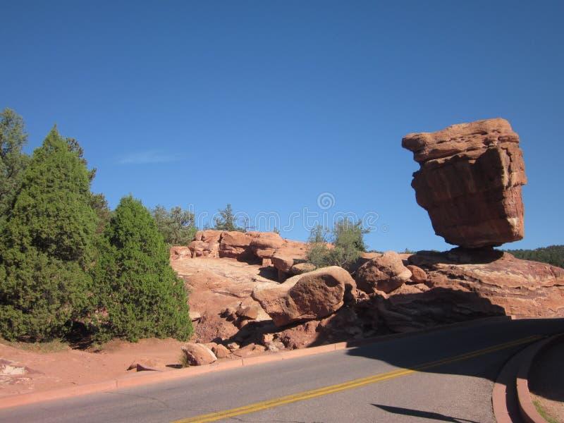 Zrównoważona Rockowa formacja, Kolorado fotografia stock