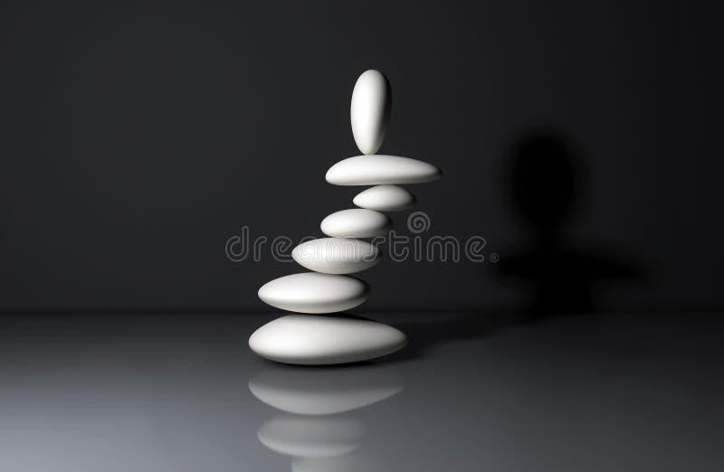 Zrównoważona sterta zen kamienie obrazy stock