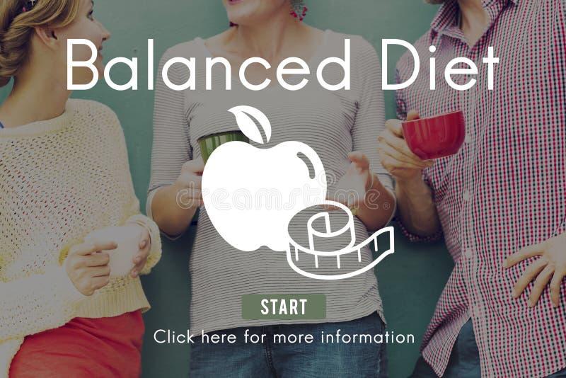 Zrównoważonego diety Zdrowego odżywiania wyboru Wyborowy pojęcie zdjęcie stock