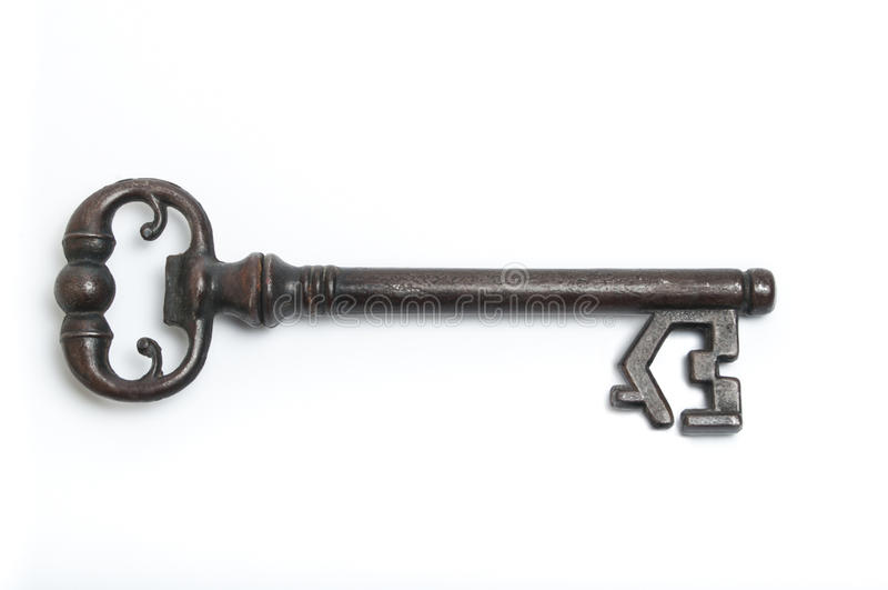 Zredukowany klucz z domowym symbolem obraz stock