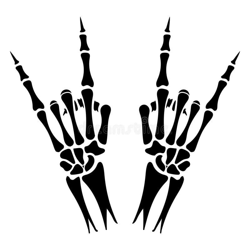 Zredukowany ręka ciężkiego metalu znak royalty ilustracja