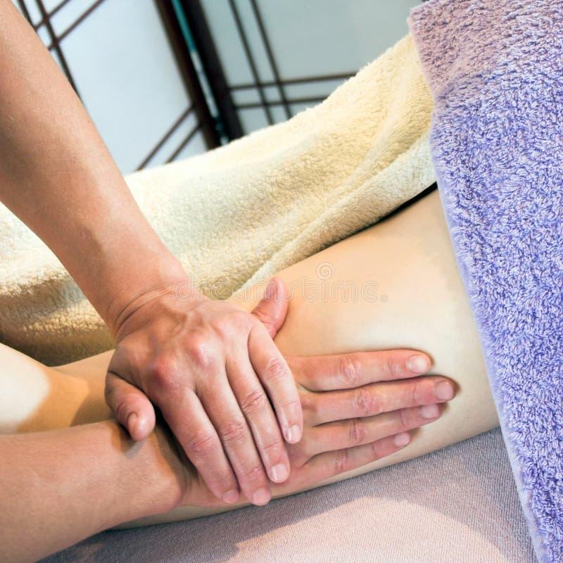 zrelaksować masaż. zdjęcia stock