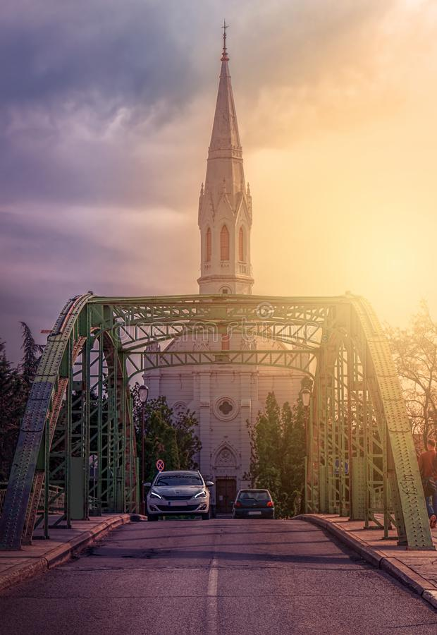 Zrenjanin Serbien - April 19, 2019 arkivfoton