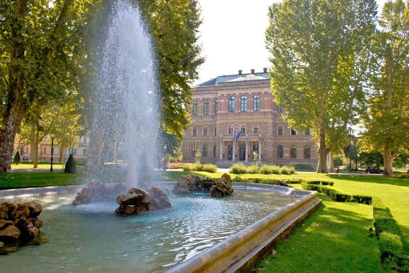 Zrinjevac kwadrat, park w Zagreb obraz royalty free