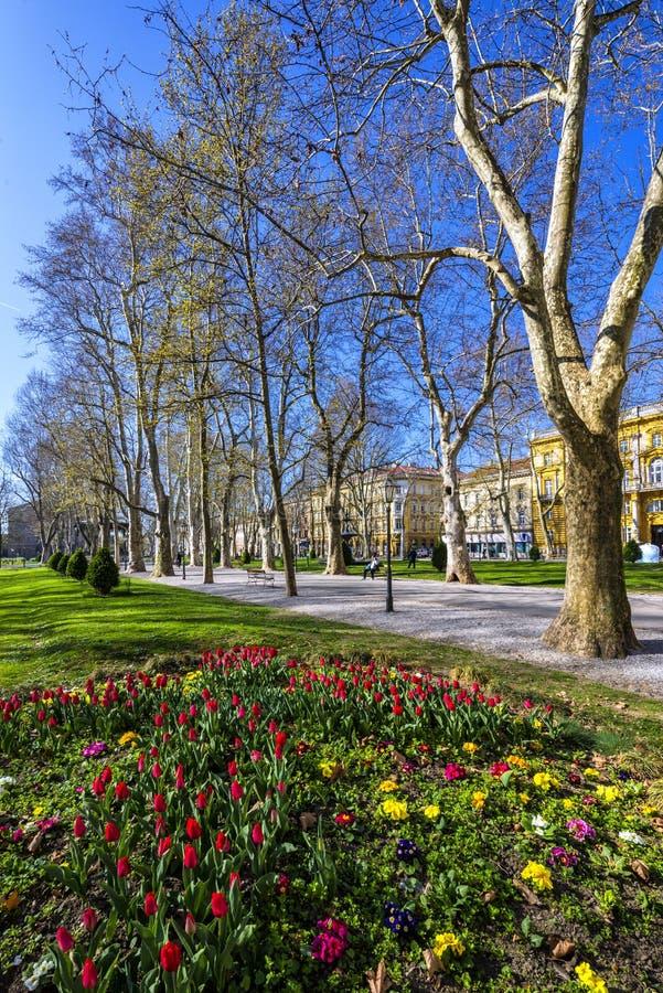 Zrinjevac-Park, Zagreb lizenzfreie stockfotos