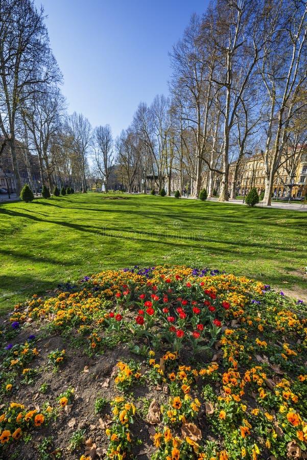 Zrinjevac-Park, Zagreb stockbild