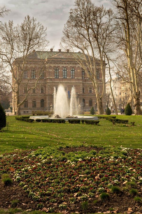 Zrinjevacpark, Zagreb stock foto's