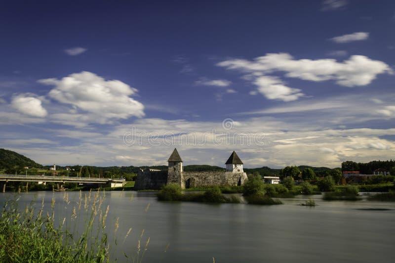 Zrinski城堡,克罗地亚 免版税图库摄影