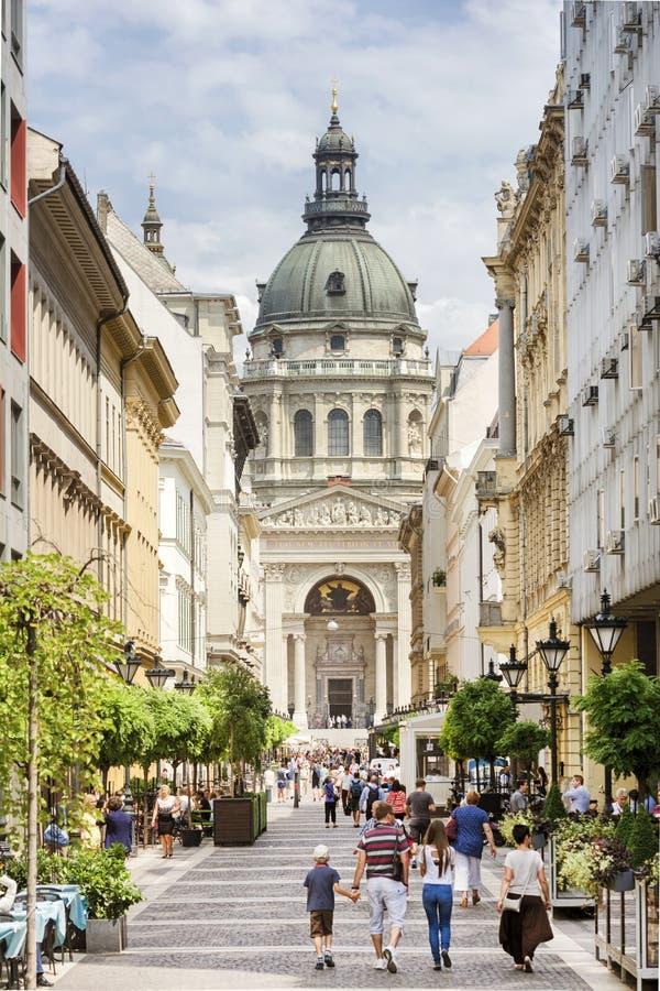 Zrinyi街,布达佩斯,匈牙利 免版税库存图片
