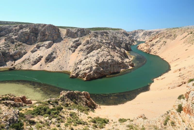 Zrmanja kanjon royaltyfri fotografi