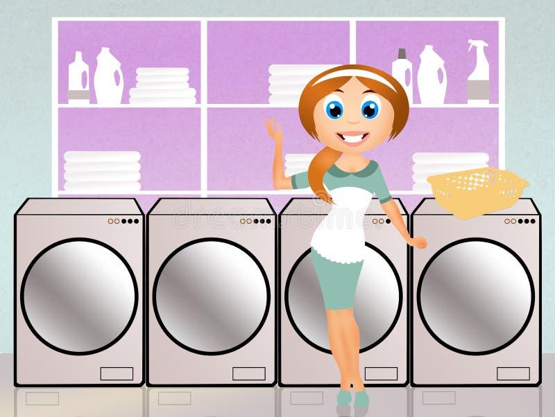 zrobić pranie royalty ilustracja