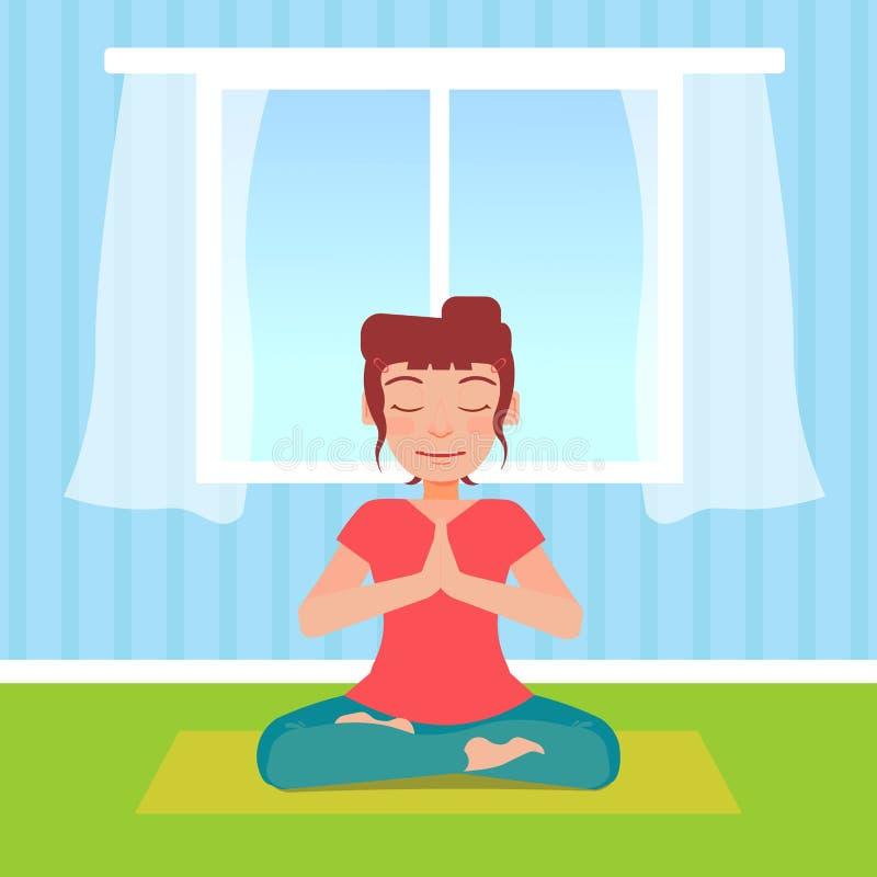 zrobić z jogi ilustracja wektor