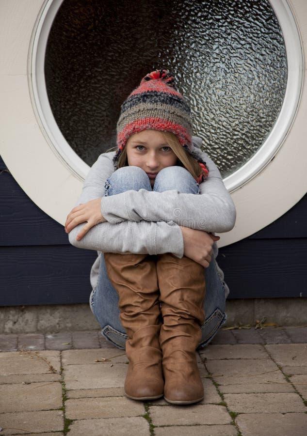 Zrozpaczona nastoletnia dziewczyna obraz stock
