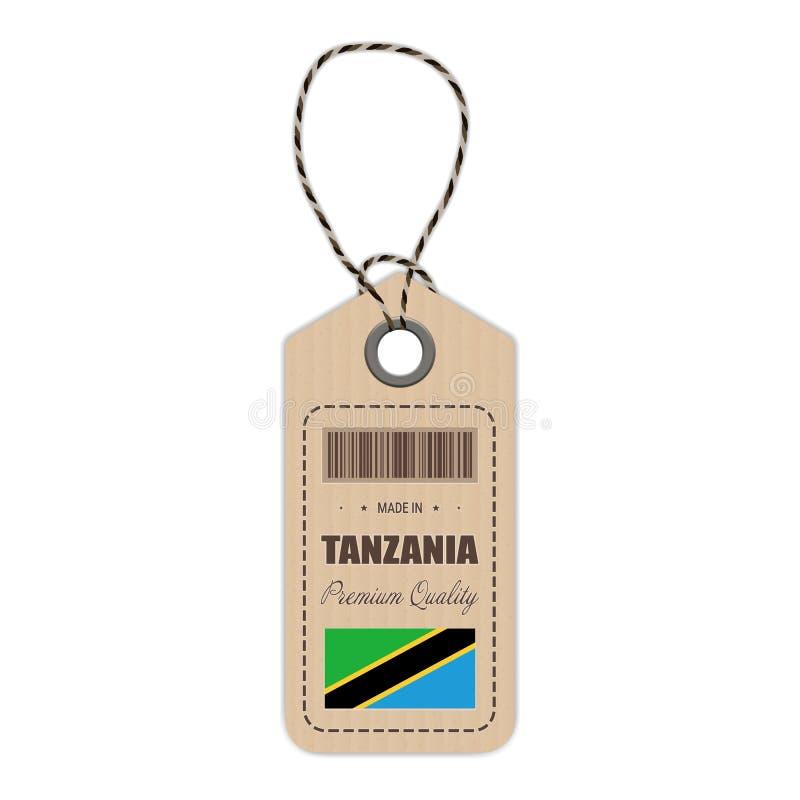 Zrozumienie etykietka Robić W Tanzania Z Chorągwianą ikoną Odizolowywającą Na Białym tle również zwrócić corel ilustracji wektora ilustracji