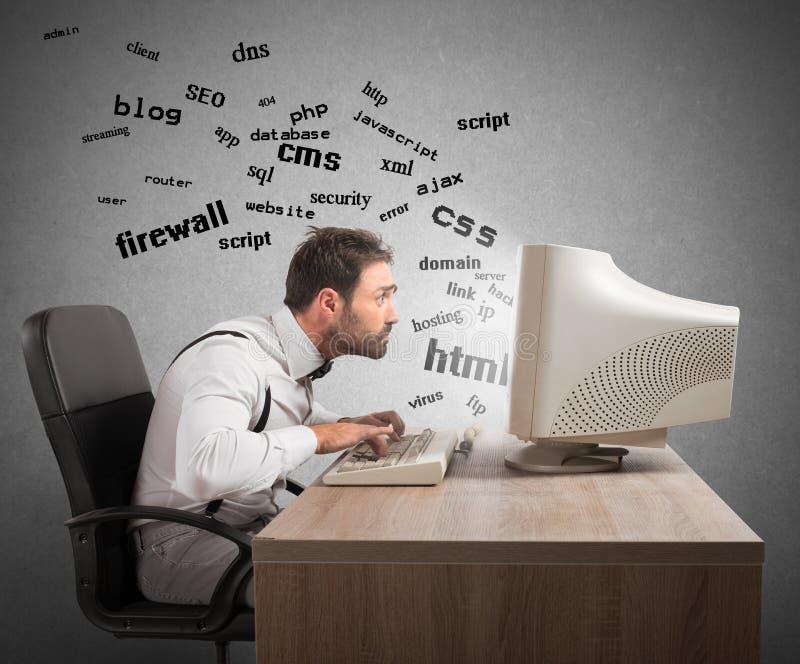 Zrozumienie interneta terminy obrazy stock