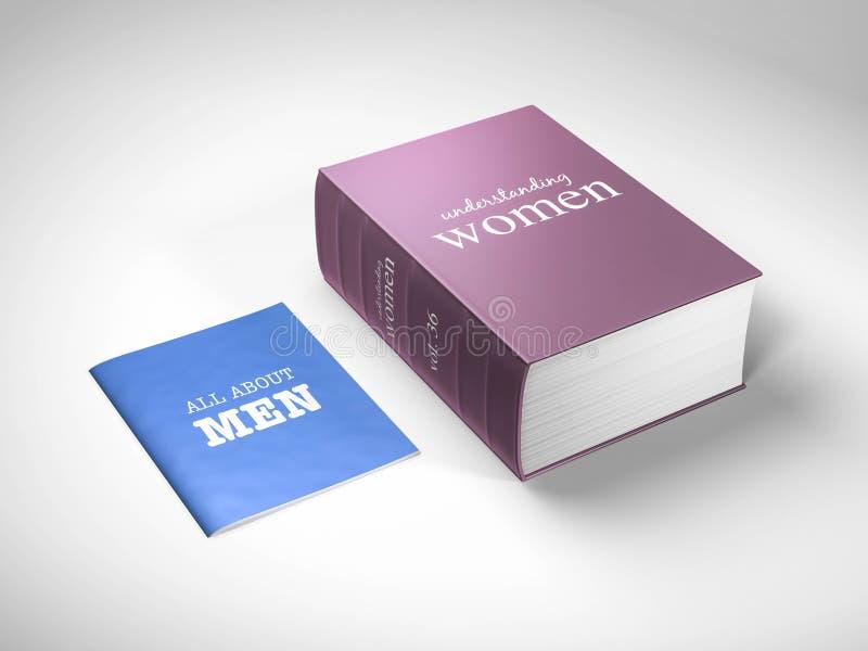 Zrozumienie kobiety i mężczyzna ilustracja wektor