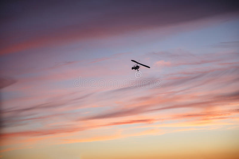 Zrozumienie szybowa latanie z pilotem zdjęcia royalty free