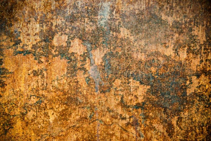 Zrudziała tekstura na metal rdzewiejącej powierzchni zdjęcia royalty free