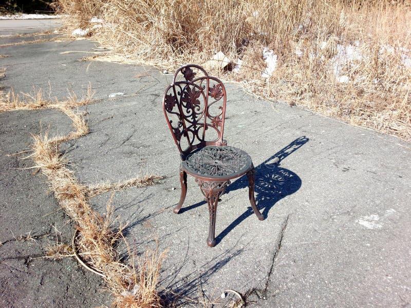zrudziały krzesło zdjęcie royalty free