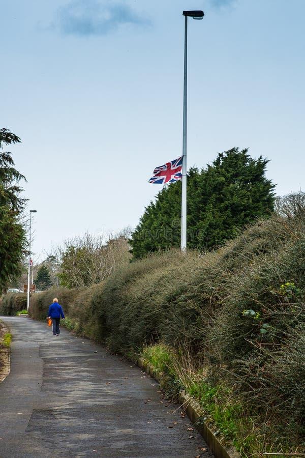 Zrzeszeniowa flaga, Antrim, Północny - Ireland fotografia royalty free