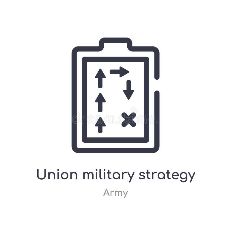 zrzeszeniowa strategia wojskowa konturu ikona odosobniona kreskowa wektorowa ilustracja od wojsko kolekcji editable cienieje uder ilustracji