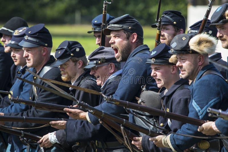 Zrzeszeniowi żołnierze od Amerykańskiej Cywilnej wojny zdjęcie stock