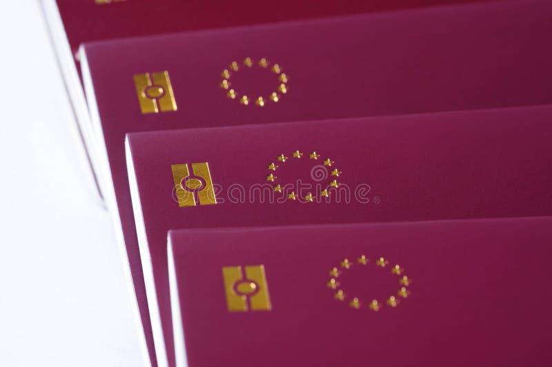 zrzeszeniowi biometryczni europejscy paszporty obrazy royalty free