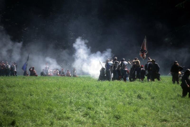 Zrzeszeniowi piechoty linii ogienie fotografia royalty free