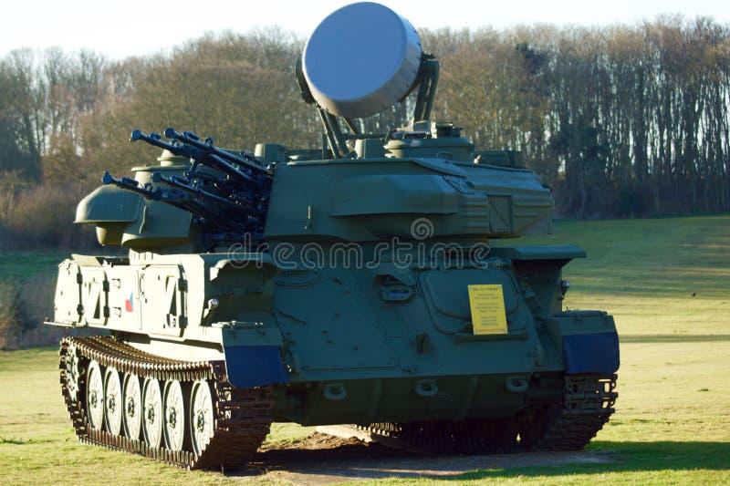 ZSU-23-4 Shilka雷达控制的反航空器枪 免版税库存照片