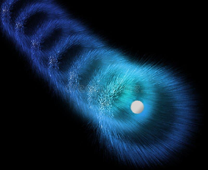 zsypowa eksplozji gazu przestrzeni ilustracja wektor