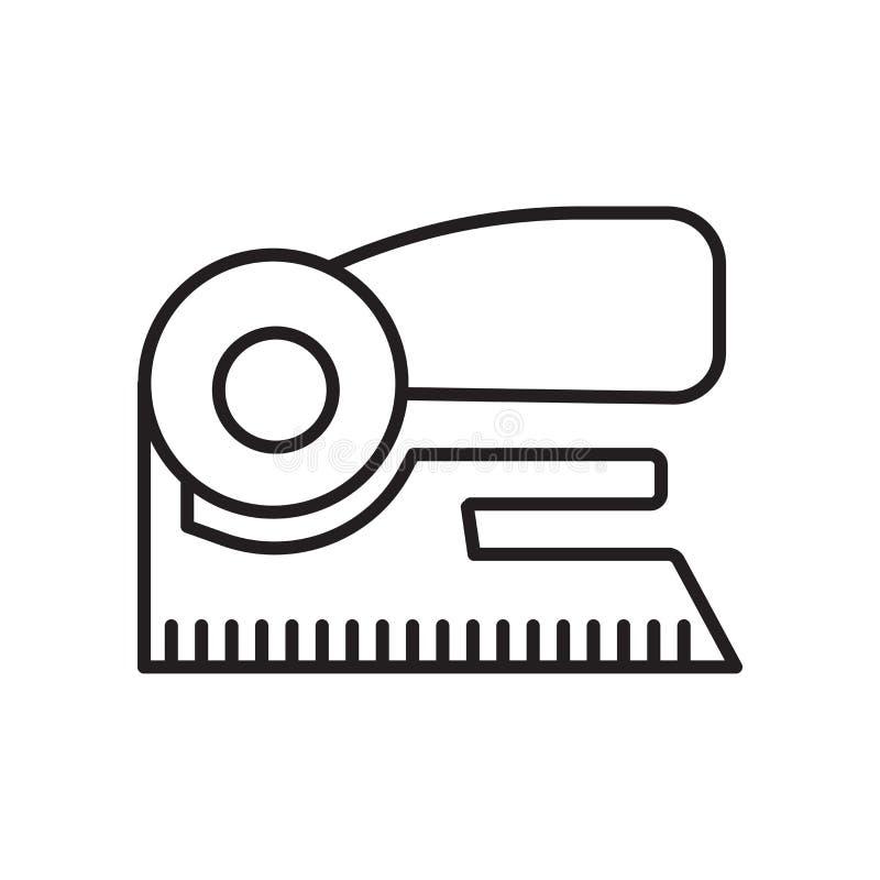 Zszywacz ikony wektor odizolowywający na białym tle, zszywacza znak, znak i symbole w cienkim liniowym konturze, projektujemy royalty ilustracja