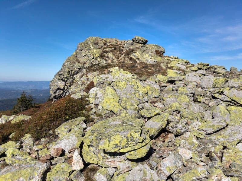 Ztracene skaly, montañas de Jeseniky, Moravia, República Checa/Czechia imagen de archivo libre de regalías