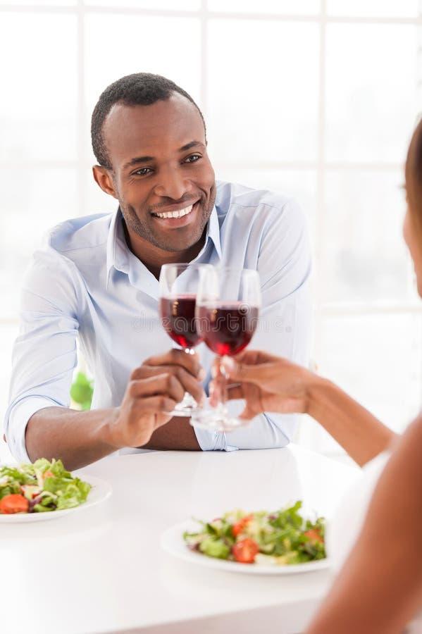 Zu Abend essen zusammen. stockfotos